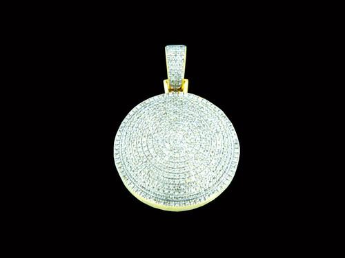 10K Gold 0.99Ct Diamond Round Pendant