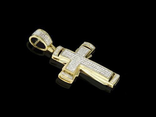 10K Gold 0.29CT Diamonds Cross Pendant