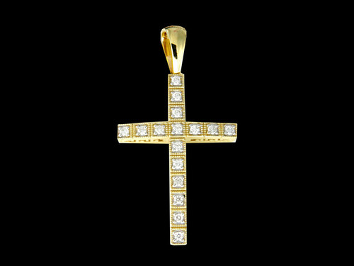 10K Gold 0.53CT Diamonds Cross Pendant