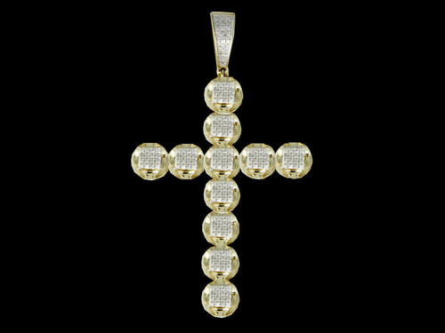 10K Gold 0.39CT Diamonds Cross Pendant
