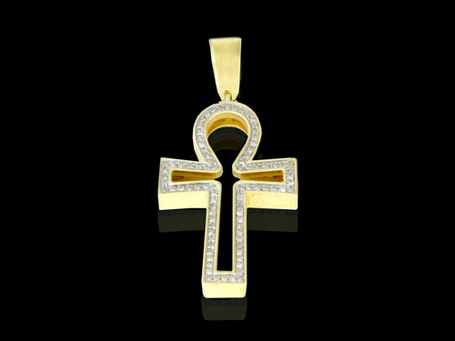 10K Gold 0.21CT Diamond Cross Pendant