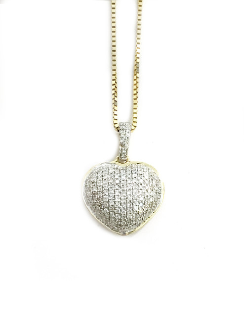 10K gold Heart Pendant 0.28ct diamonds with 10K gold chain