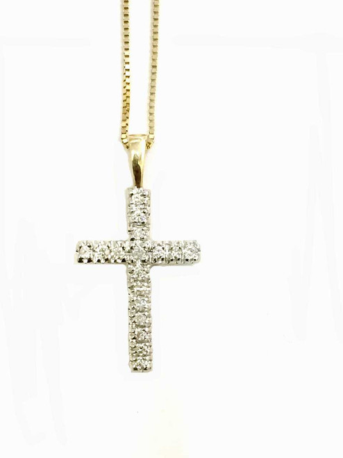 10K Gold Cross 0.25ct Diamonds with 10K Gold Chain