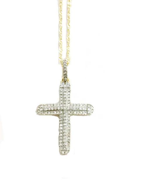 10K gold 0.15 ct Diamonds Cross