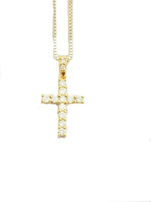 10K gold 0.24ct Diamonds Cross