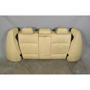 2006-2008 BMW E90 3-Series Sedan Rear Seat Folding Backrest Set Beige Leather OE