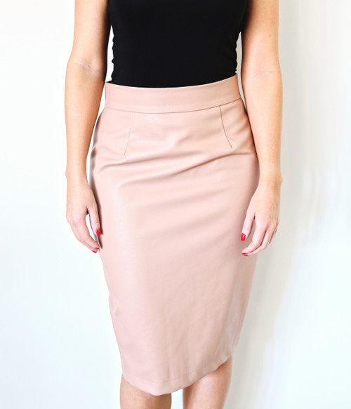 Faux It Pleather Pencil Skirt
