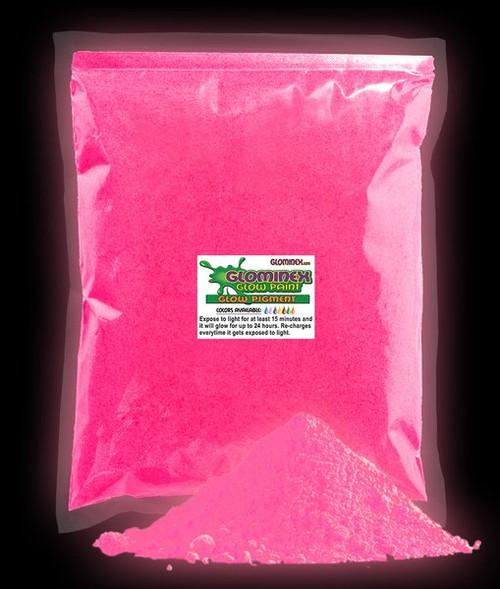 GLOMINEX NEON PINK GLOW PIGMENT 1 oz