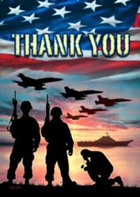 USA Thank You Military Blank