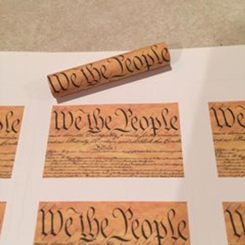 We the People Script Pen Blank