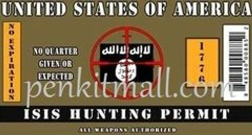 ISIS HUNTING PERMIT PEN BLANK