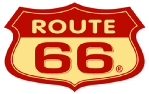 Route 66 Red Street Sign Pen Blank