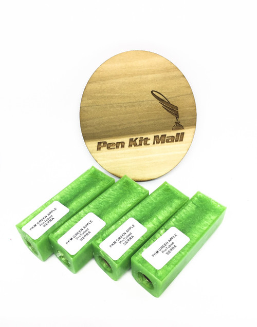 PKM Green Apple PRE-TUBED PEN BLANK