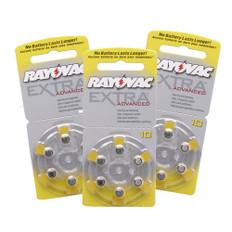 3 dial packs - 18 batteries per order.