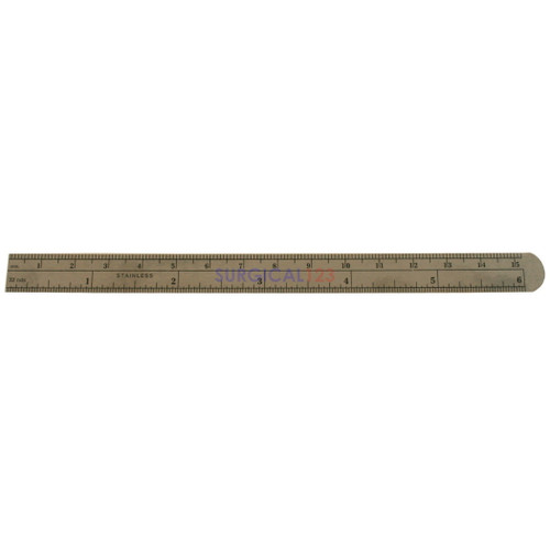 Flexible Stainless Ruler, Graduated in Fractions & mm