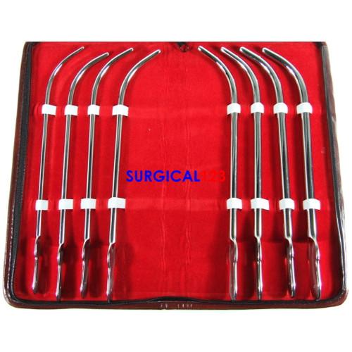 Van Buren Urethral Sounds Curved, Kit of 8