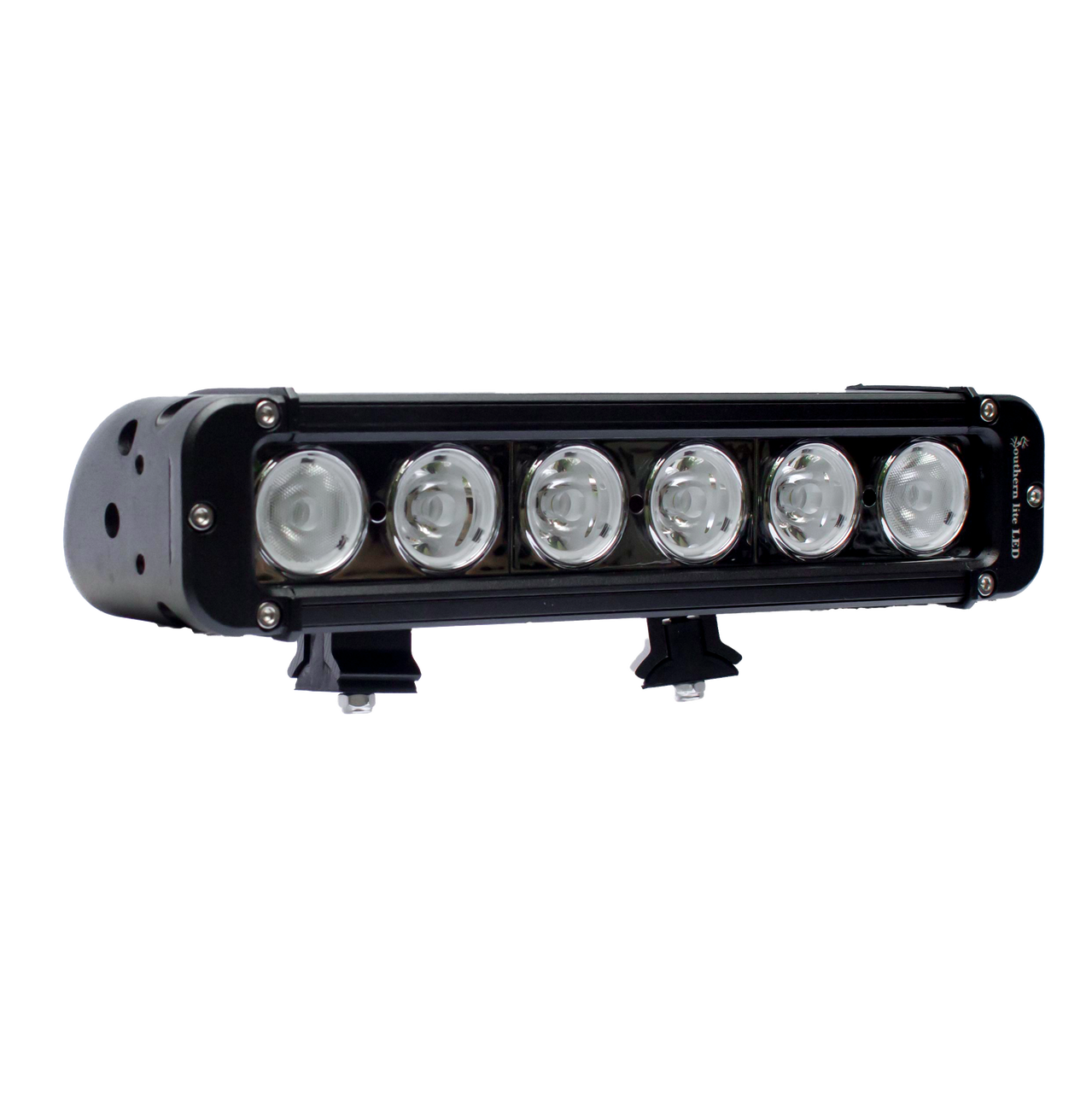 "Southern lite LED 11"" (60 Watt) Single Row LED Light Bar, with slide track mounting and wire harness."
