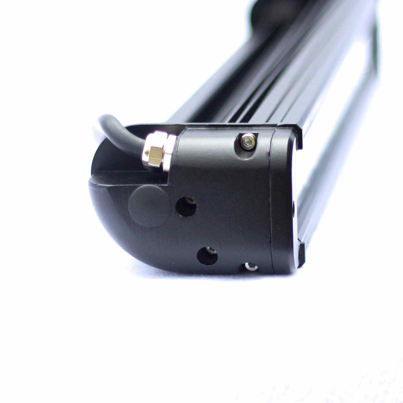 Waterproof led light bar with 10 watt cree led single row with HD housing.