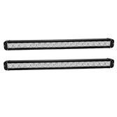 """30"""" Single Row LED light bar with XM-L 10 Watt USA Cree LEDs 180 Watts - 18,000 Lumens Package includes 2 light bars, wire harness, and mounting brackets"""