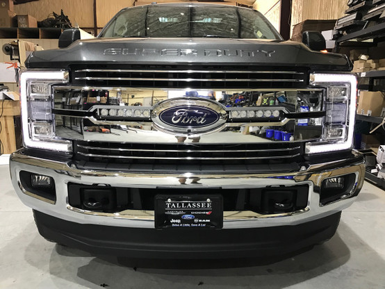 F250 2017 grille led light mounts and brackets 12k lumen light bars new 2017 f250f350 double hidden grille mount aloadofball Image collections