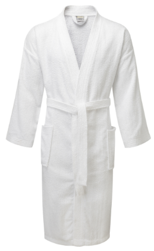 100% Cotton Value Range Terry Towelling Kimono Bathrobe