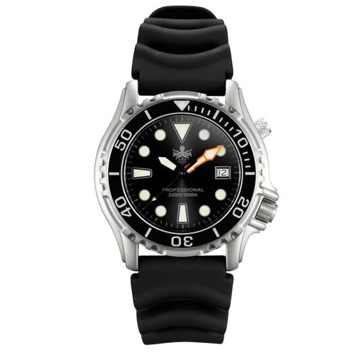 PHOIBOS Men's PX005C 1000M Dive Watch Black Sport Watch