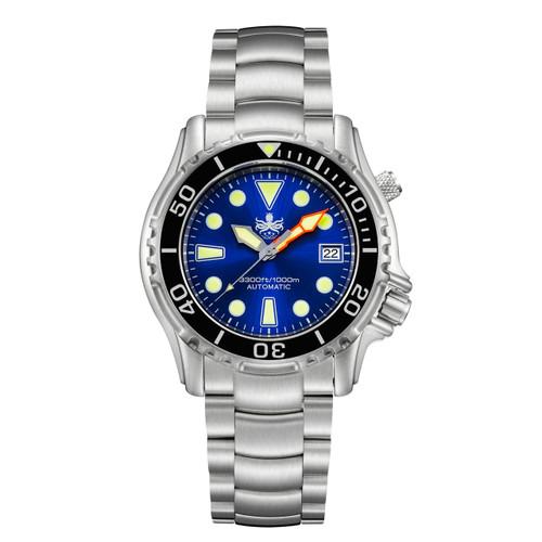 PHOIBOS OCEAN MASTER PY005B 1000M Automatic Diver Watch Blue