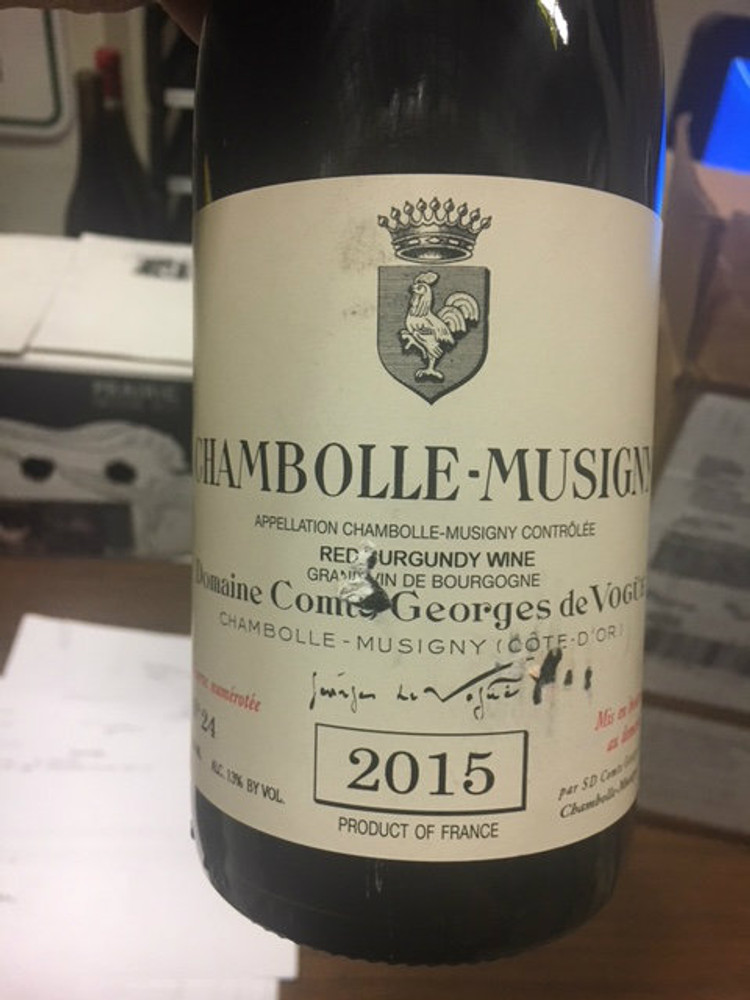 Domaine Comte Georges de Vogue Chambolle Musigny 2015 750ml (Scuffed Label)