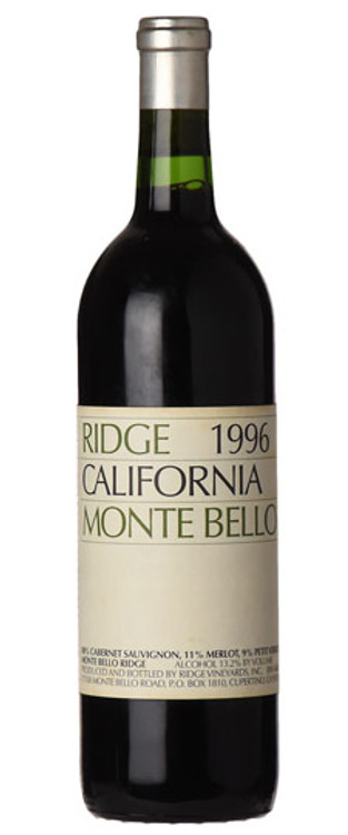 Ridge Monte Bello 1996 750ml