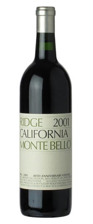 Ridge Monte Bello 2001 750ml