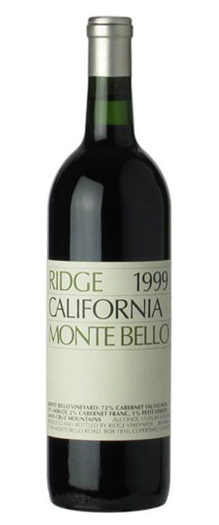 Ridge Monte Bello 1999 750ml