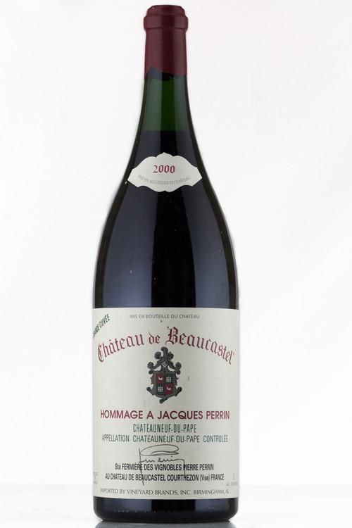 Chateau de Beaucastel Chateauneuf du Pape Hommage a Jacques Perrin 2000 3000ml