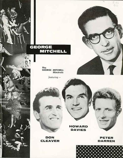 Black and white minstrel show varitety show australasian tour 1960s johnnie mack