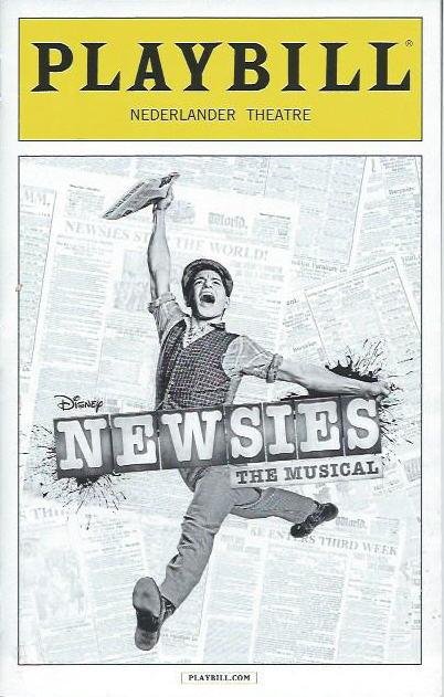 Newsies Theatregold - Playbill program
