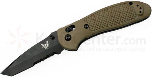 Benchmade Griptillian Tan, black blade, Tanto, 553SBKSN