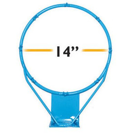 Clear Hoop Jr. Stainless 14 in