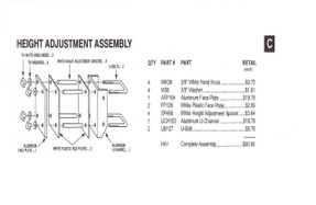 Slam - Height Adjustment Assembly - HA1