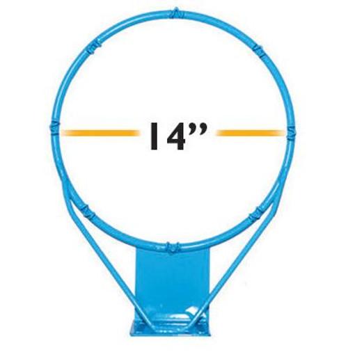 Clear Hoop Jr. Stainless 14 in