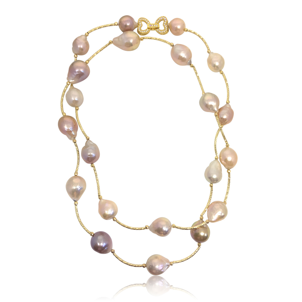 Multicolour Baroque Pearl Long Necklace : Baroque Pearl Jewellery ...