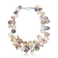 Patel Multicolour Keshi Pearl Necklace