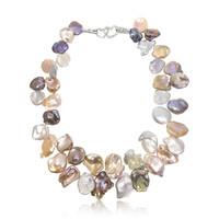 Multicolour Keshi Pearl Necklace