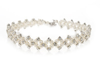Classic Ivory Pearls and Diamante Bridal Choker