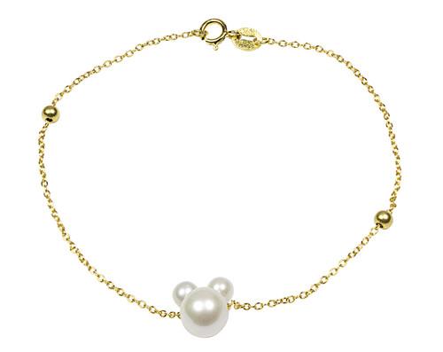 Minnie Mouse Pearls Bracelet Gold Bracelet
