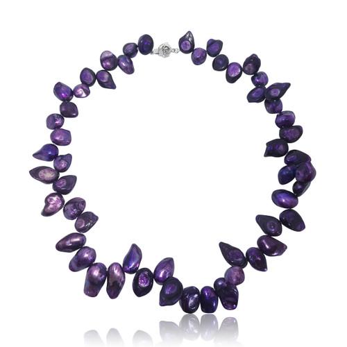 Purple Baroque Pearl Necklace