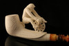 Cycler Hand Carved Block Meerschaum Smoking Pipe in a fitted CASE 7439