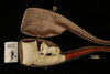 Horses Vien Style Hand Carved Meerschaum Pipe in a fitted CASE 8474
