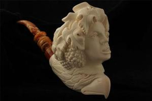 Lady Bacchus with Eagle Hand Carved by I. Baglan Meerschaum Pipe in case 3921