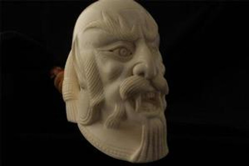 DEVIL by I. BAGLAN Hand Made Block Meerschaum Pipe in fitted case 4054 pipa NEW