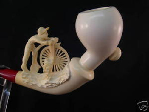 Cycler Meerschaum Pipe Made by Master Carver S. Yanik Great for Collection 0472