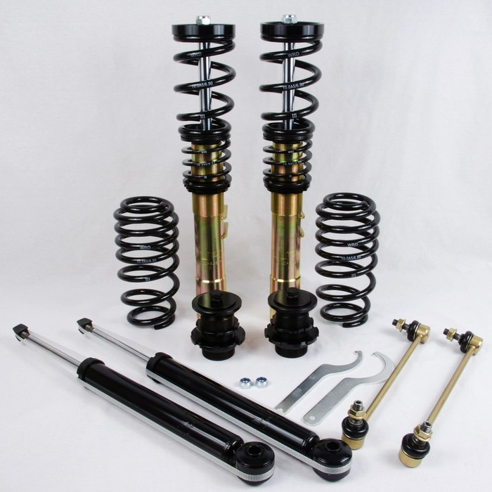 WRD ADVANTAGE STREET COILOVERS MK6 Jetta, WITH REAR BEAM, 55mm Front Strut